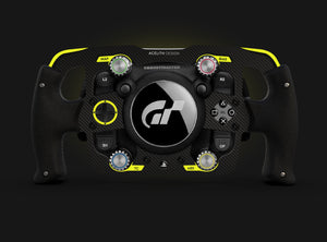 Mod Formula style Thrustmater T-GT Steering wheel full yellow