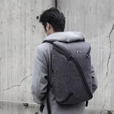 top 7 work and travel backpacks in 2020 - man carrying kickstarter backpack in dark grey UNO II Backpack