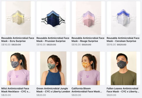 CYC made to measure antimicrobial masks