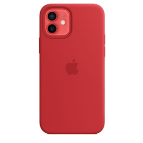 iPhone 12 Silicone Case with MagSafe - (PRODUCT) RED