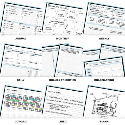 Rocketbook Panda Planner Templates for All Uses