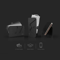 Tic Holder - 3-in-1 foldable holder for Phone / Mask / Cards
