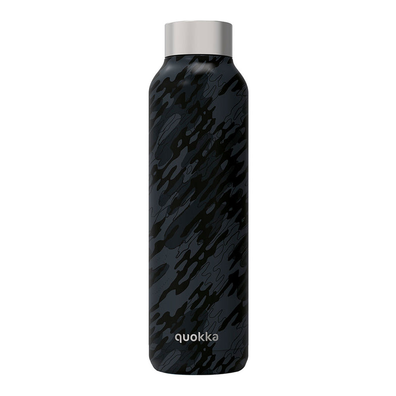 Quokka Stainless Steel Bottle SOLID – 20+ Gorgeous Designs in black print