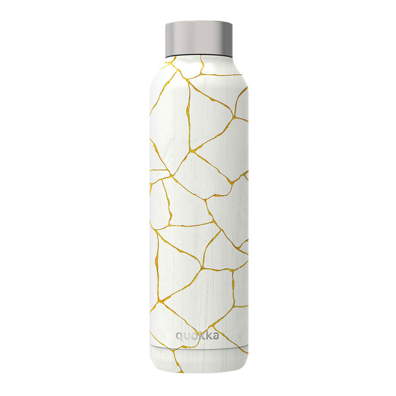 Quokka Stainless Steel Bottle SOLID – 20+ Gorgeous Designs in white cracked