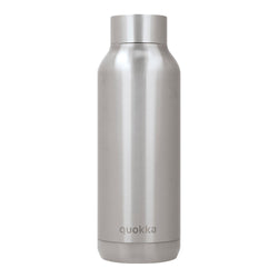 Quokka Stainless Steel Bottle SOLID – 20+ Gorgeous Designs in silver