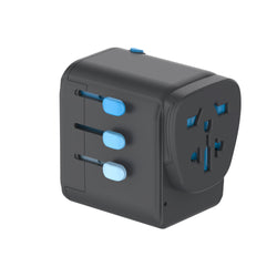 Zendure Passport Pro Travel Adapter – Works in 200 countries in black
