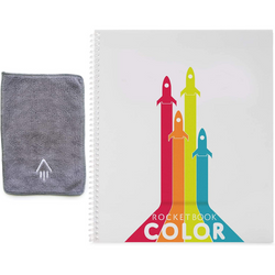 RocketBook Color – Digitize Your Kids' Drawings, comes with microfibre cloth