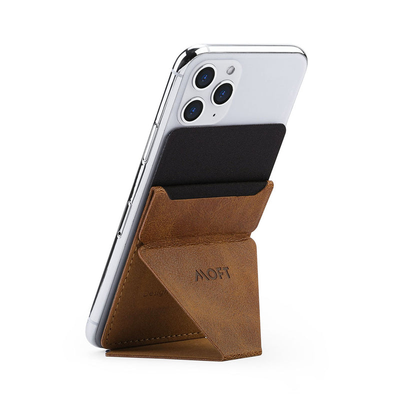 MOFT X Phone Stand - Foldable, Ultra-Slim & Lightweight in brown