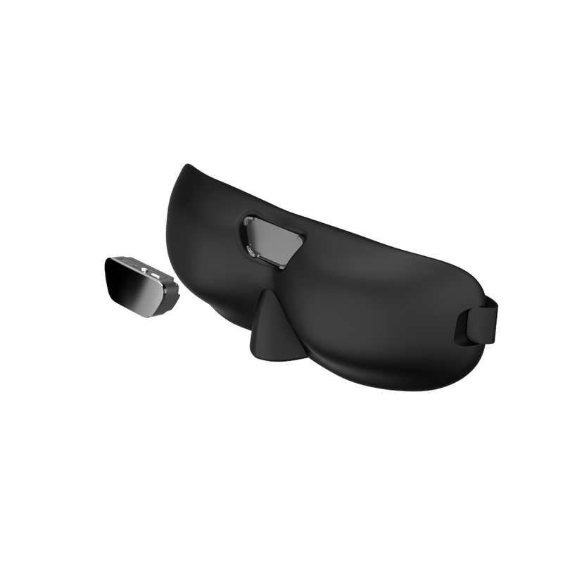 SleepMagic - Smart Anti-Snoring Eye Mask + Sleep Data in black