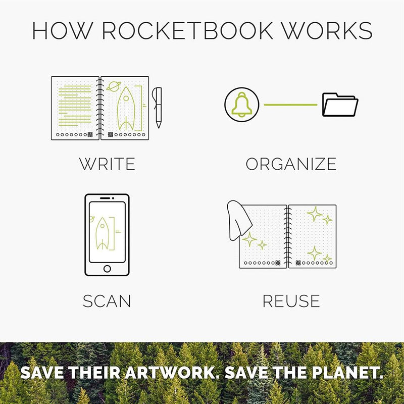 RocketBook Color – Digitize Your Kids' Drawings how to use the Rocketbook Color