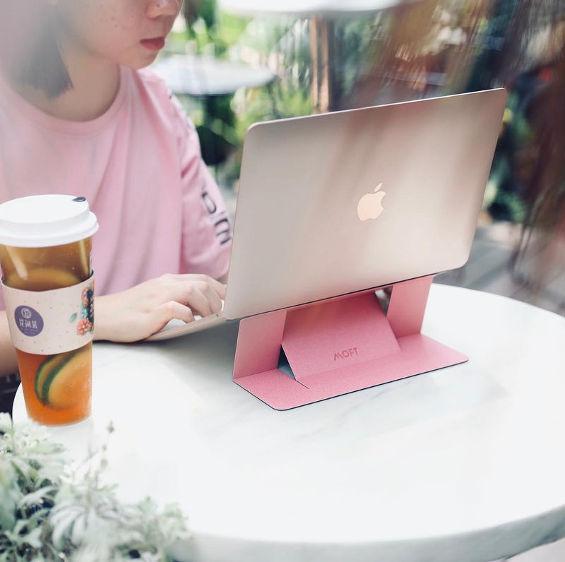 MOFT Laptop Stand – Invisible, Lightweight & Adjustable in pink