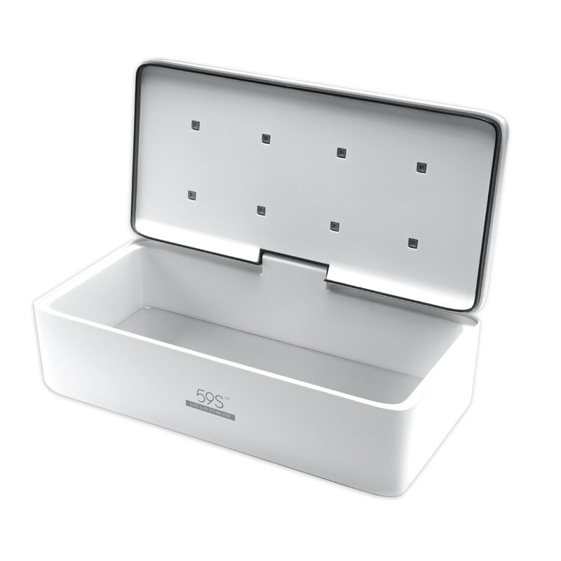 59S UVC LED All-Purpose Sterilizer Box S2 (White) opened up inner view