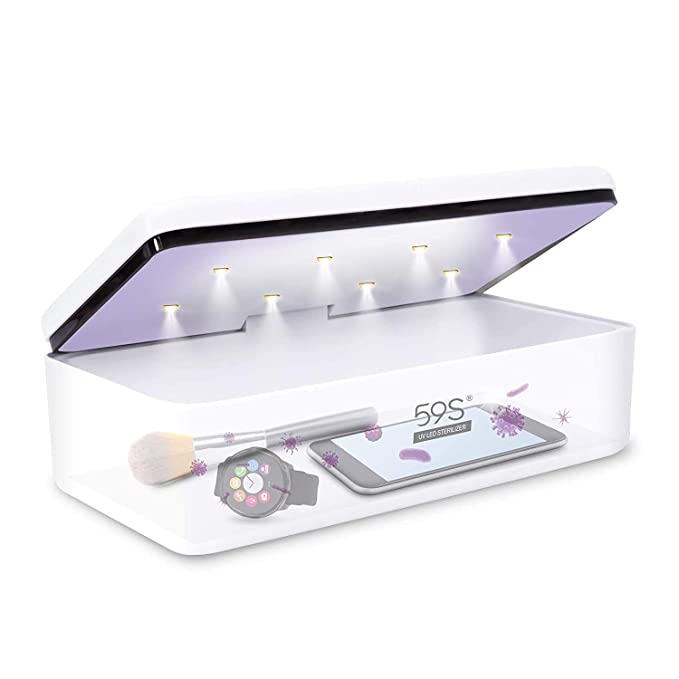 59S UVC LED All-Purpose Sterilizer Box S2 (White)'s various uses for brushes watches mobile phones