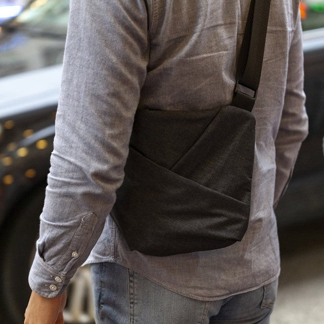 NIID x URBANATURE D1 Chest Bag - Spacious Design in use on man