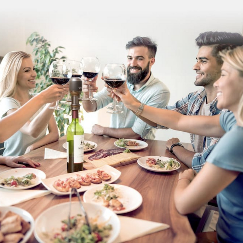 Vinaera Pro Instant Adjustable Electronic Wine Aerator perfect for parties for immediately aeration