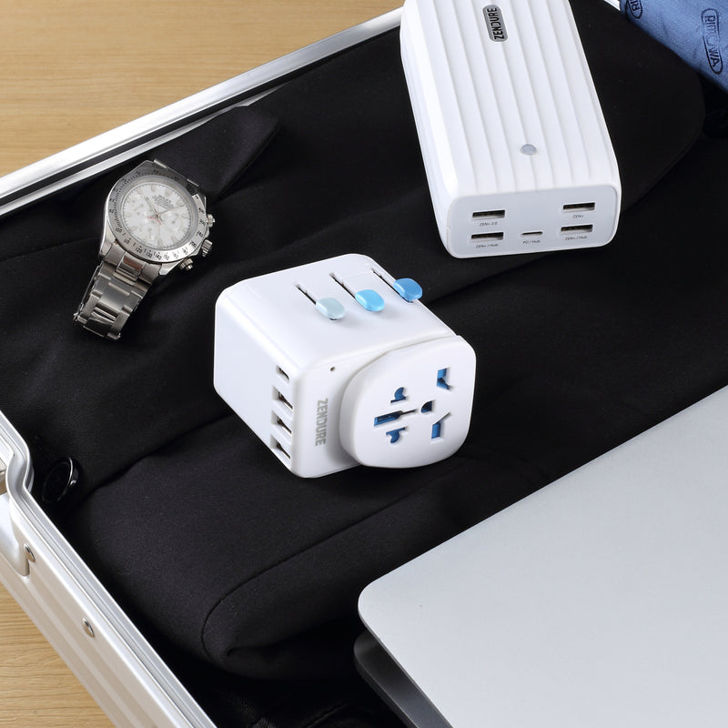 Zendure Passport Pro Travel Adapter – Works in 200 countries fits with other outlets