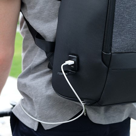 FlexPack Pro by Korin - Anti-Theft, Spacious Backpack battery wire charging available