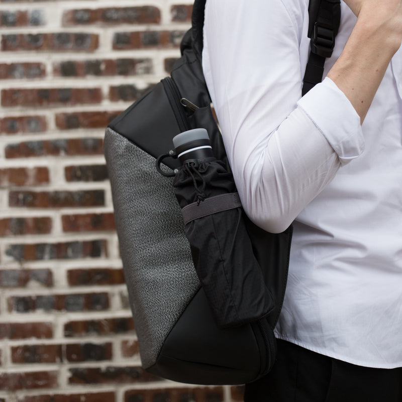 ClickPack Basic by Korin – Secure, Multi-functional Backpack carried in use