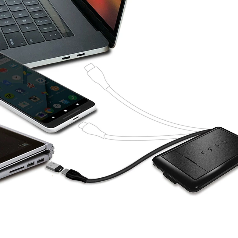 KableCARD – Multi-Functional Cables & Wireless Charger connected with mobile phones and laptops