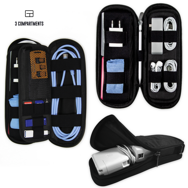 Power Packer - Compact Cable Organizer multiple uses and compartments