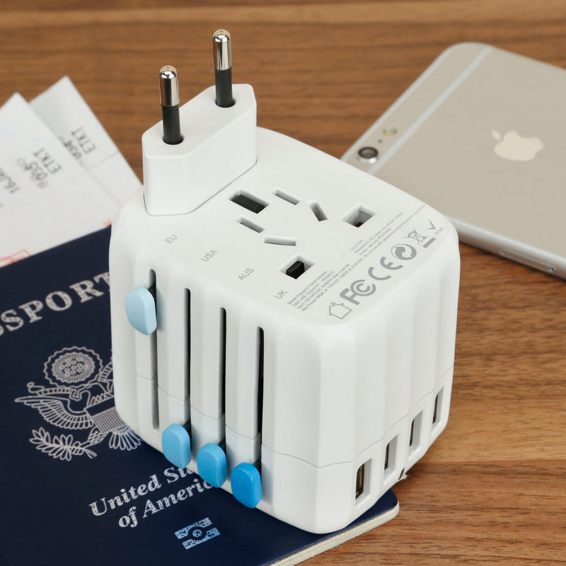Zendure Passport Travel Adapter – Works in 150 countries different socket view