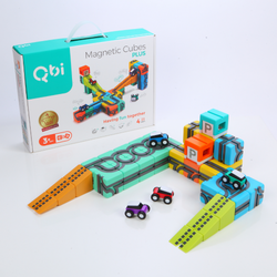 Qbitoy Magnetic Cubes - Unleash Your Child's Creativity with Qbitoy Plus (39pcs)