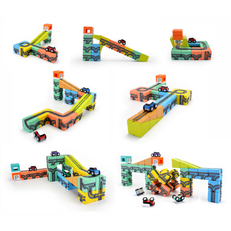 Qbitoy Magnetic Cubes - Unleash Your Child's Creativity with up to 100 combinations of play