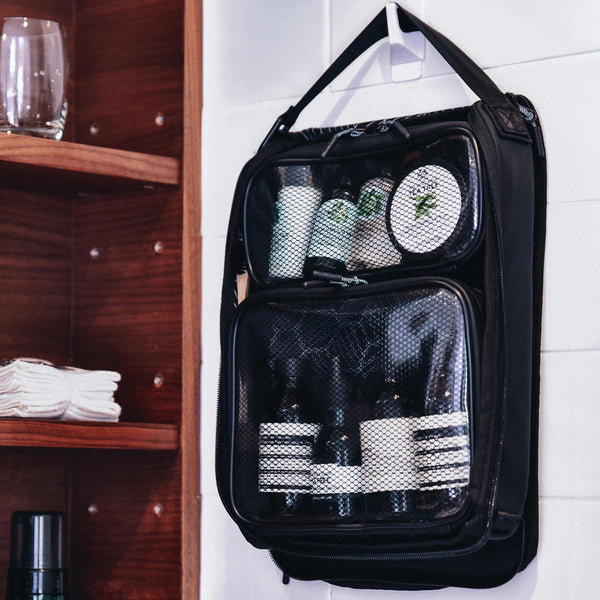 Travel Packer – Leakproof Toiletry Bag Organizer hanging in bathroom