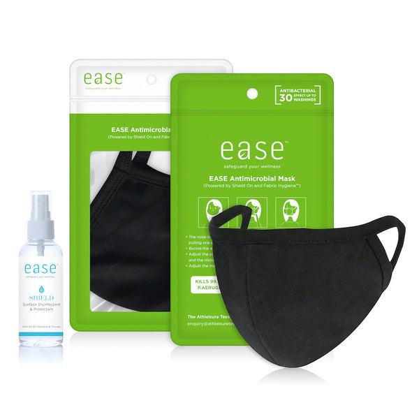 EASE™ Antimicrobial Mask Care Pack (Mask and Spray)