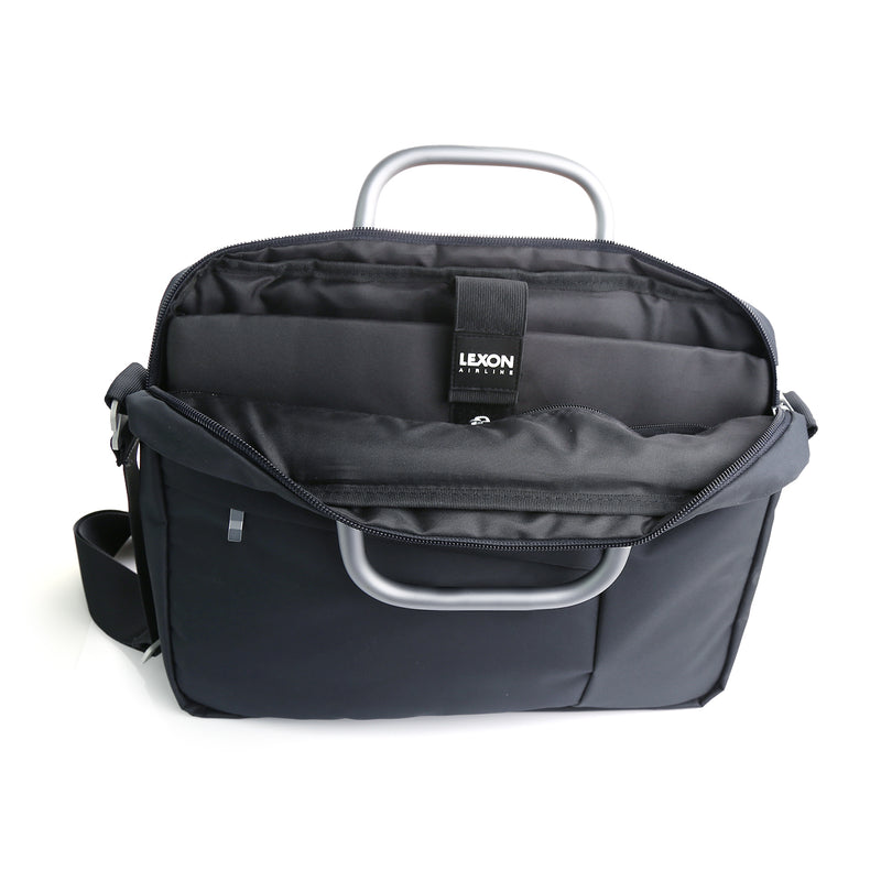 Lexon Airline 14 – Stylish Laptop & Document Bag opened view