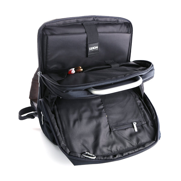 Lexon Backpack (Airline) – Lifestyle & Work Backpack opened inner compartments view