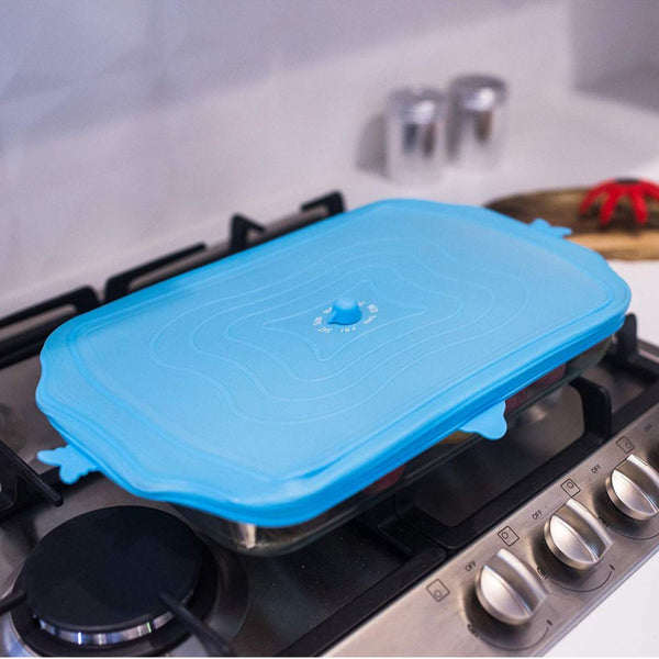 UniLid Bakeware Lid – Eco-friendly & Zero-Waste Lids over glassware