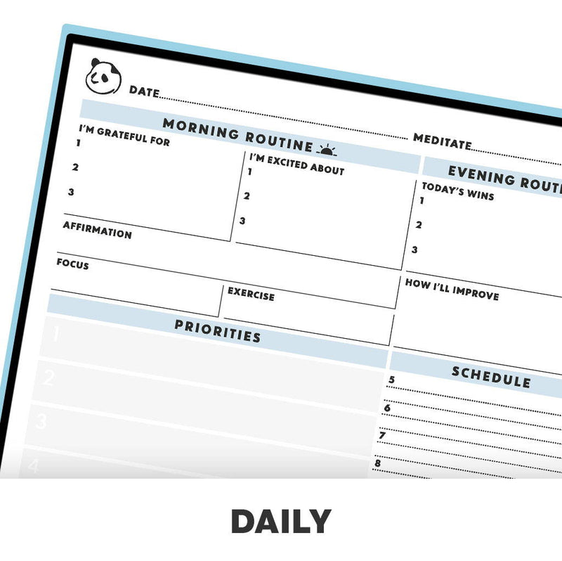 Rocketbook Panda Planner - Reusable & Cloud-Connected daily planner