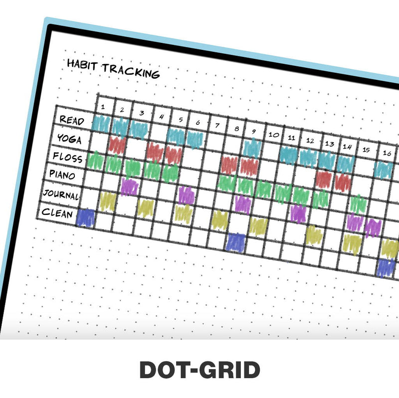Rocketbook Panda Planner - Reusable & Cloud-Connected with dot grid pages for drawing and tables