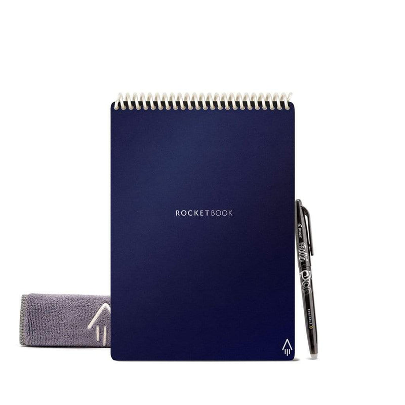 Rocketbook Flip: Galaxy's 1st Ambidextrous Reusable Notepad in midnight blue