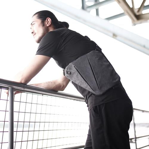 NIID FINO Neo Sling Crossbody Chest Bag – Slim & Stylish in use outdoors