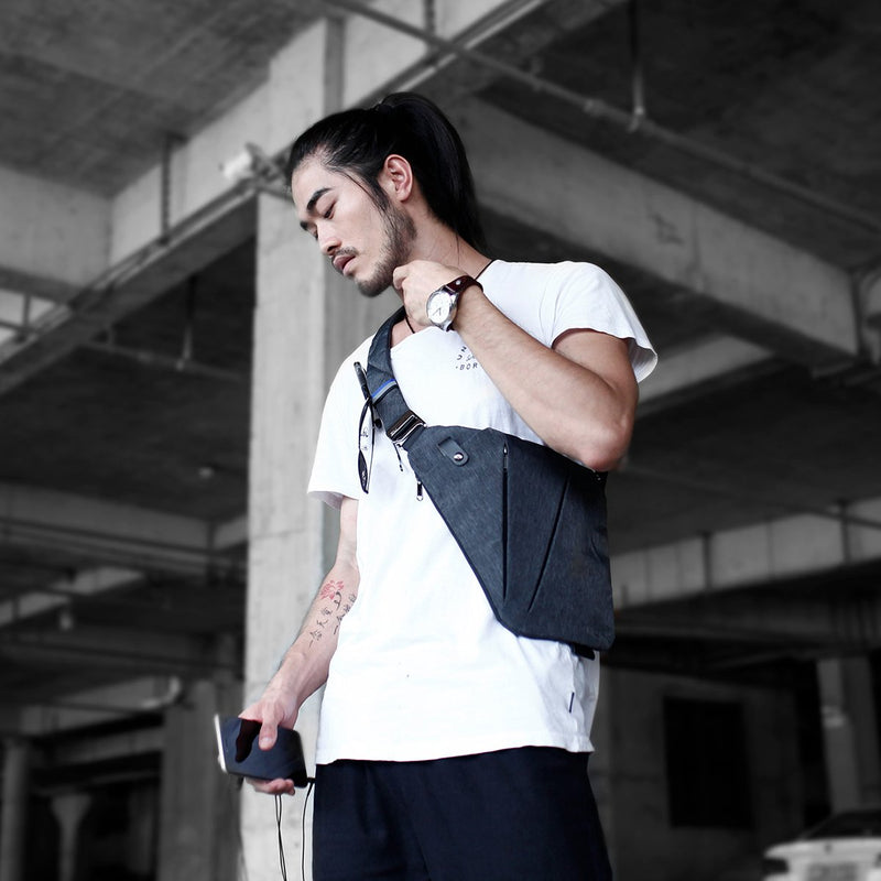NIID FINO Neo Sling Crossbody Chest Bag – Slim & Stylish side view  man carrying