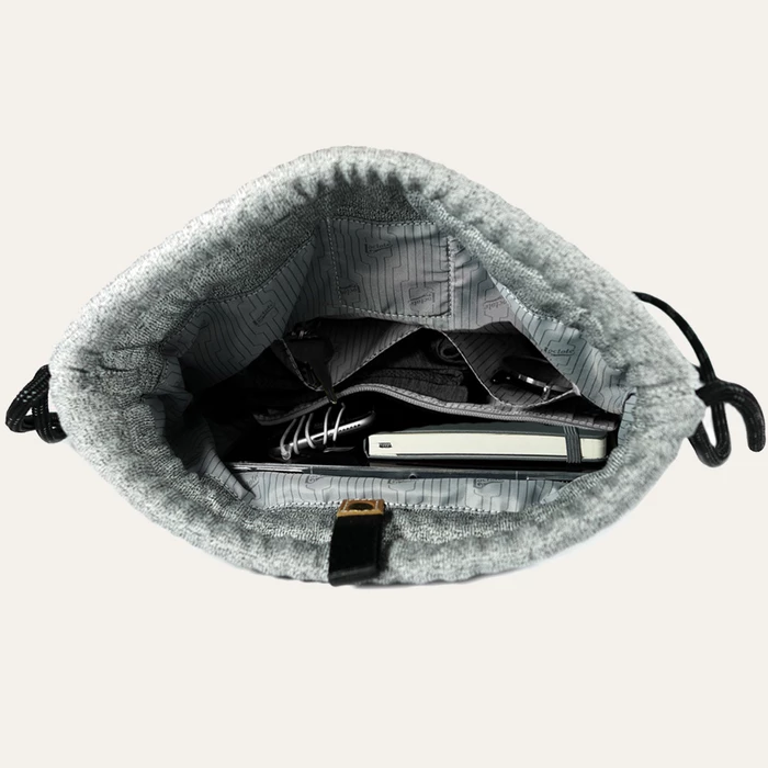 Loctote Flak Sack II - Theft-Resistant Drawstring Backpack inner compartment view