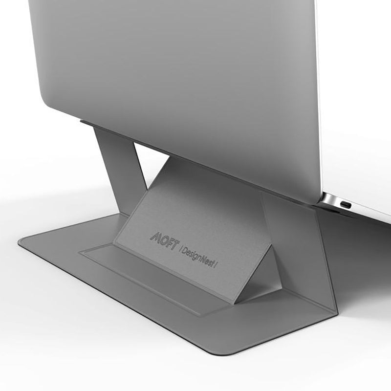 MOFT Laptop Stand – Invisible, Lightweight & Adjustable in grey