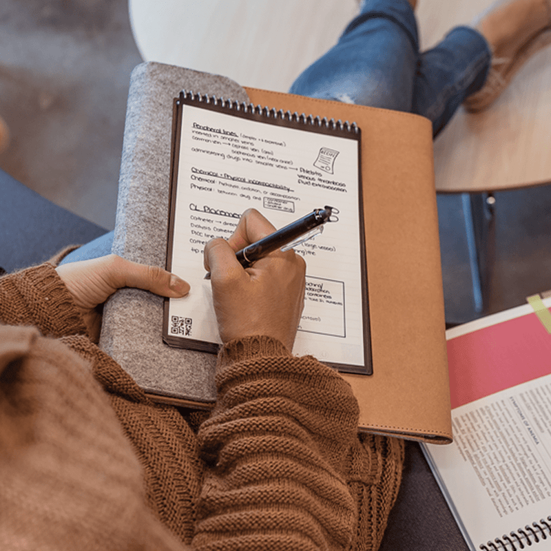 Rocketbook Flip: Galaxy's 1st Ambidextrous Reusable Notepad use it to take notes on the go