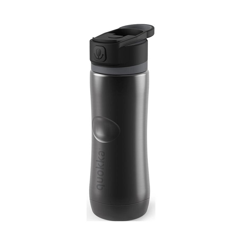 Quokka Stainless Steel Bottle SPRING – Outdoor Friendly Design in black