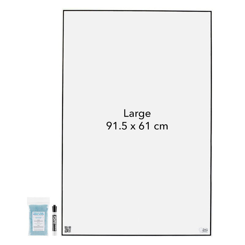 Think Board X – Powerful Peel & Stick Whiteboard large board front view