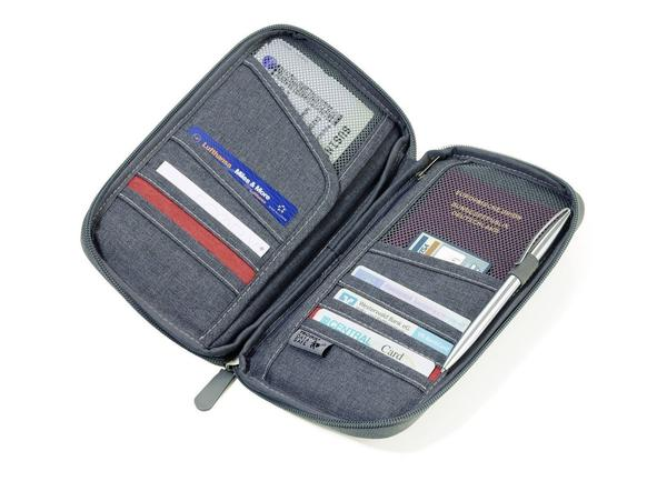 "Travel Case ""SAFE FLIGHT"" inner compartments for passports, boarding passes, credit cards"