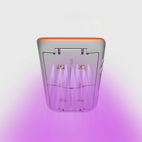 59S UV LED Portable Sterilizer X1 (Silver With Orange) disinfection UV light rays