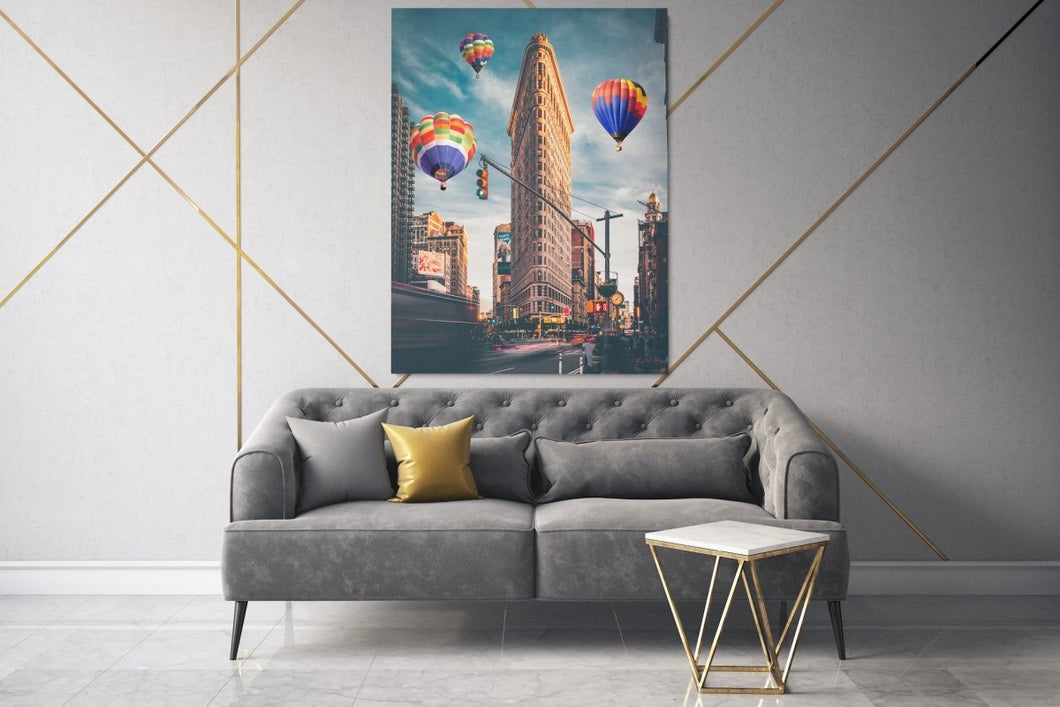 Balloon City (Flatiron Building Edition) - A Philosophy of Life Canvas, Co.