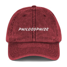 Load image into Gallery viewer, Philosophize - Vintage Cotton Cap - A Philosophy of Life Canvas, Co.