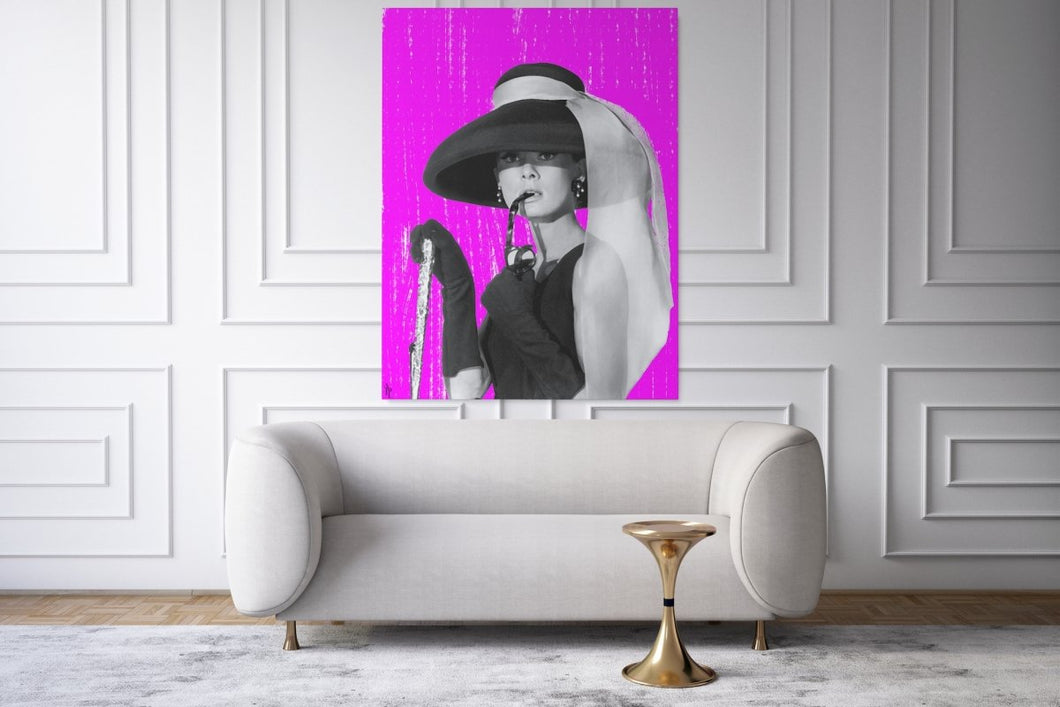 Pink Rain - Audrey Hepburn - A Philosophy of Life Canvas, Co.