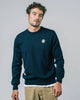 Brava Fabrics - Men's Sweater - Sweater made of Merino Wool - 100% Merino Wool - Model Popeye Navy