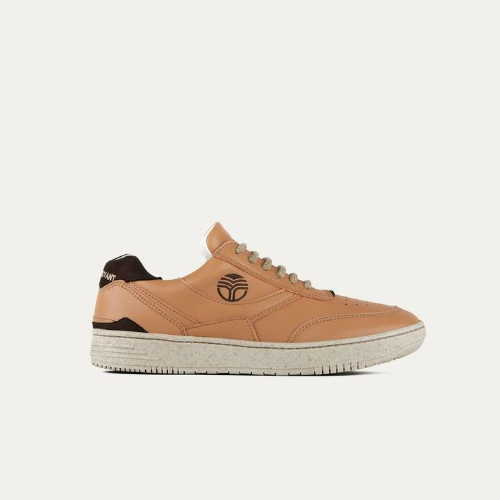 Vegan sneakers BEFLAMBOYANT UX-68 Caramel side view