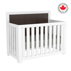 Harley 5-in-1 Convertible Crib | White + Barn Wood